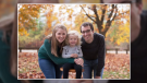 Jenna Armstrong, left, with her daughter and husband. (Source: GoFundMe)