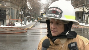 Louise Desrosiers of the Montreal Fire Department