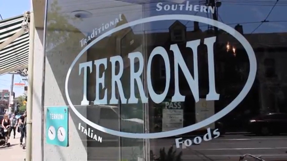 Toronto's Terroni Queen restaurant is the other Canadian restaurant to make the list.