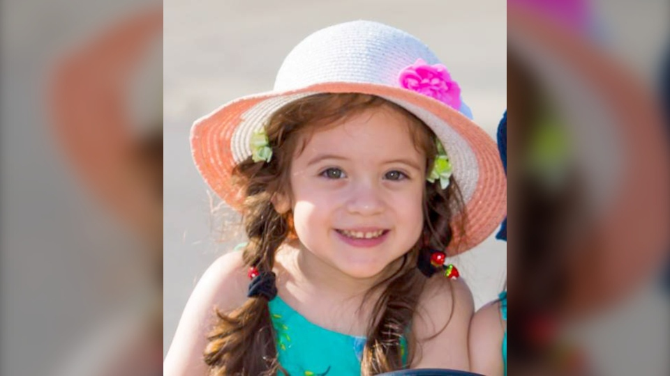 Four-year-old Ariela Berkovich was diagnosed with periventricular leukomalacia, cerebral palsy at the age of two and has qualified for selective dorsal rhizotomy surgery in the U.S., which will cost US$100,000. (Berkovich family)