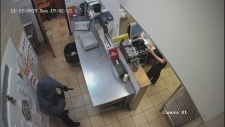 Video of Subway robbery. (Courtesy OPP)