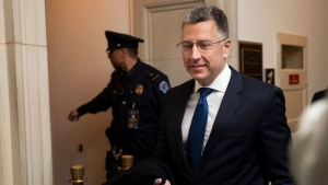 Ambassador Kurt Volker, former special envoy to Ukraine, arrives to testify before the House Intelligence Committee on Capitol Hill in Washington, Tuesday, Nov. 19, 2019. (AP Photo/Manuel Balce Ceneta)