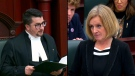 Nathan Cooper, Speaker of the House for the Legislative Assembly of Alberta (left) and Rachel Notley, Leader of the Official Opposition (right). Tuesday Nov. 19, 2019 (Legislative Assembly of Alberta)