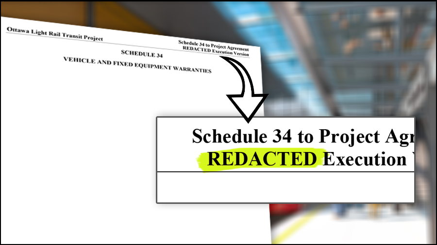 Train warranties redacted in documents