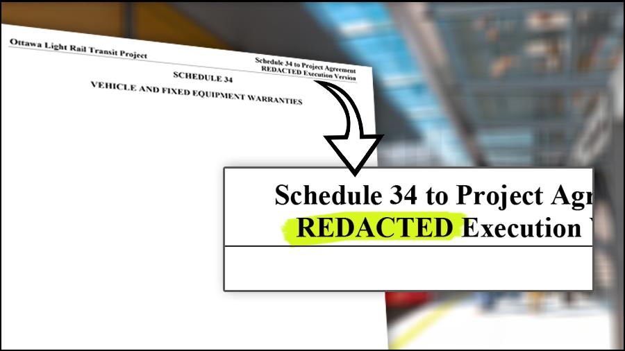 Train warranties redacted in documents