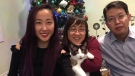 Melody Cao (far left) is hoping a letter shared online will reunite Cocoa with her family.