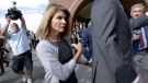 In this Aug. 27, 2019, file photo, actress Lori Loughlin departs federal court in Boston, after a hearing in a nationwide college admissions bribery scandal. (AP Photo/Steven Senne, File)