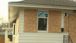 Police searching for suspects in home ransacking