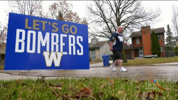It's been a drafty 17 years since a Winnipeg Blue Bombers fan has worn a pair of pants, but that could all change on Sunday. (Source: Jamie Dowsett/ CTV News Winnipeg)