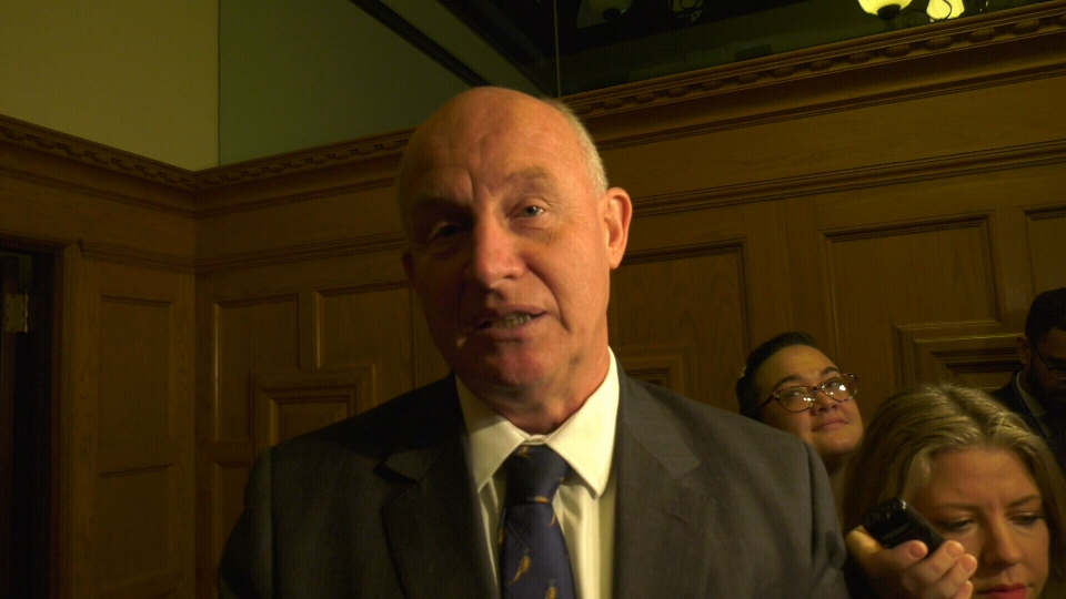 B.C.'s Public Safety Minister, Mike Farnworth, says he's frustrated with the ongoing budget dispute between Victoria city council and Victoria police: Nov. 19, 2019 (CTV News)