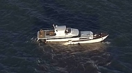 Three people rescued after yacht sinks near Steves