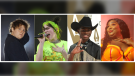 This combination photo shows, from left, Scottish singer Lewis Capaldi, Billie Eilish, rapper Lil Nas X and Lizzo, who are predicted to earn Grammy nominations in key categories, from album of the year to record and song of the year. (AP Photo)