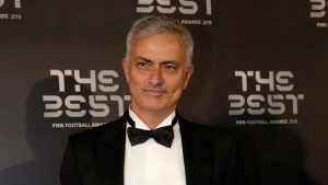 In this Sept. 23, 2019, file photo, Jose Mourinho arrives to attend the Best FIFA soccer awards, in Milan's La Scala theater, northern Italy. Tottenham has hired Mourinho as manager, a day after firing Mauricio Pochettino. (AP Photo/Luca Bruno, File)