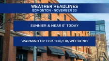 Nov. 20 weather headlines