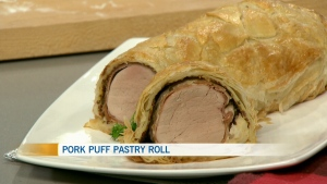 ATCO Blue Flame: pork puff pastry roll