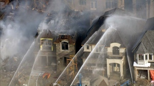 Emergency crews battle a blaze in Richmond Hill on Nov. 20, 2019. (CTV News Toronto)