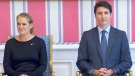 Governor-General Julie Payette and Prime Minister Justin Trudeau at the cabinet swearing-in ceremony at Rideau Hall in Ottawa on Nov. 20, 2019.