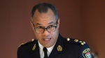 Ottawa Police Chief Peter Sloly takes part in a panel to discuss Traffic Stop race Data Collection report and Diversity Audit report in Ottawa on Wednesday November 20, 2019. THE CANADIAN PRESS/Fred Chartrand