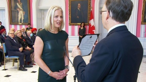 Catherine McKenna has been named the new infrastructure minister in Prime Minister Justin Trudeau's new cabinet.