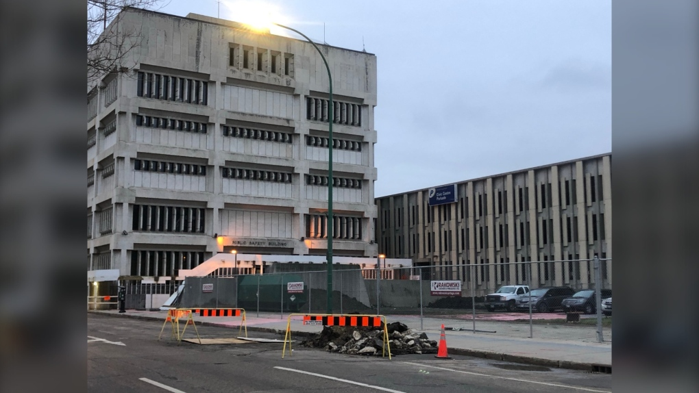 City begins demolition of old Public Safety Building's parkade