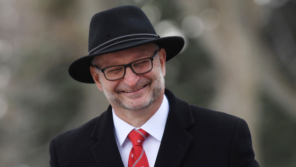 David Lametti arrives for the cabinet swearing-in ceremony in Ottawa. THE CANADIAN PRESS/Adrian Wyld