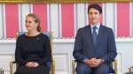 PM Justin Trudeau and Governor General Julie Payette at cabinet swearing-in ceremony.