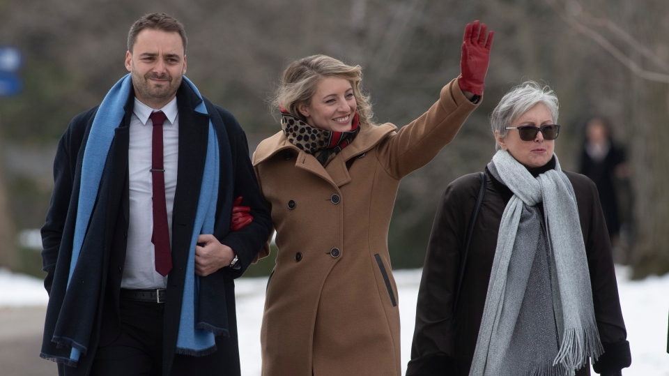 Melanie Joly arrives for the cabinet swearing-in ceremony in Ottawa. THE CANADIAN PRESS/Adrian Wyld