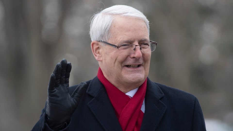 Marc Garneau arrives for the swearing-in ceremony in Ottawa. THE CANADIAN PRESS/Adrian Wyld