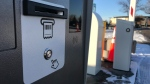 The new automated parking stations at the Edmonton Expo Centre will speed up exit and entry into the centre's 3,200-stall parking lot. Nov. 20, 2019. (CTV News Edmonton)
