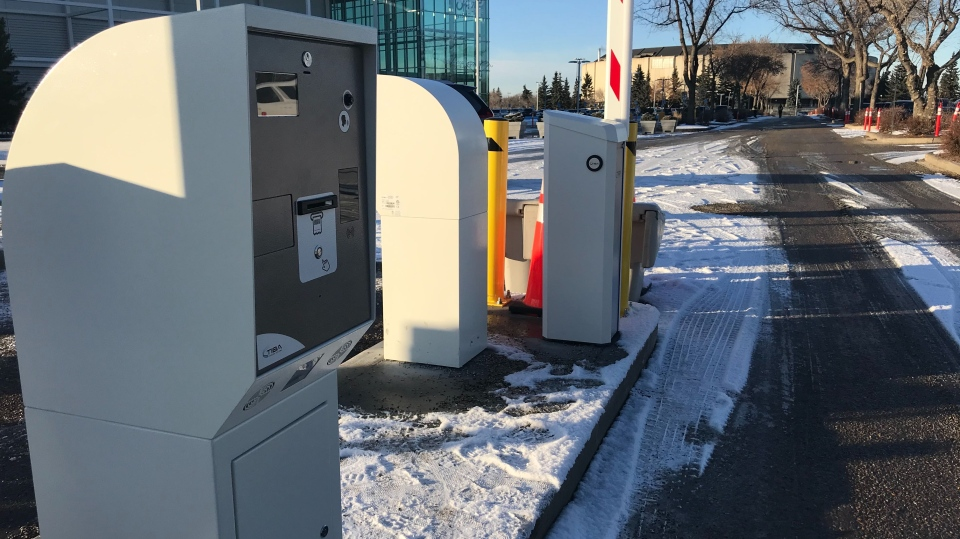 Edmonton Expo Centre parking pay station