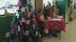 Family paying it forward during holiday season