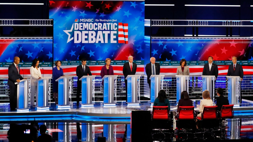At debate, Democrats agree that Trump should be impeached