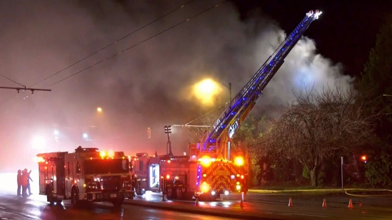 Possible fireworks-related blaze 'suspicious'