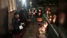 Vigil for Rebecca Hunter. Nov. 20, 2019. (CTV News Edmonton)