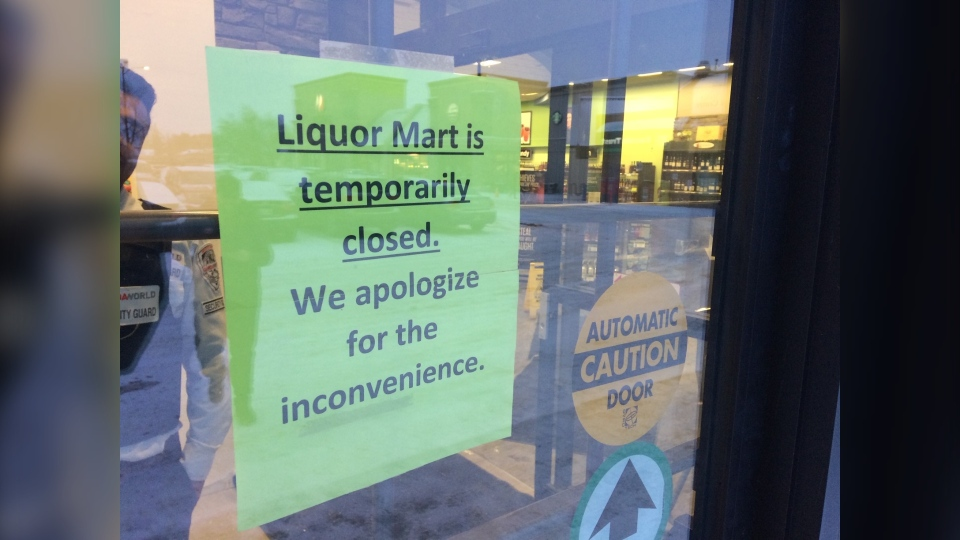 The Tyndall Park Liquor Mart closed it's doors on Nov. 20, 2019 after a serious incident in Winnipeg. (Source: Jamie Dowsett/ CTV News Winnipeg)