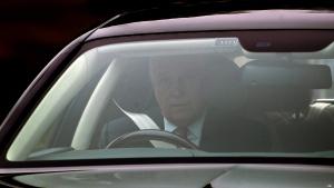 Prince Andrew leaves his home in Windsor, England, on Nov. 21, 2019. (Steve Parsons / PA via AP)