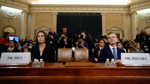 Testimony from former White House Russia analyst Fiona Hill and diplomat David Holmes