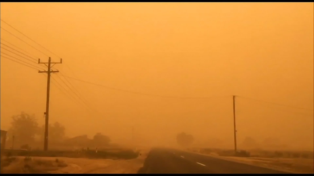 A massive dust storm has turned an Australian city red
