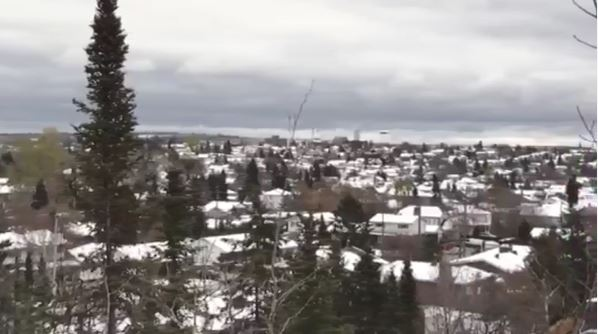 View of Timmins in winter