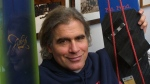Jake Burton Carpenter in his office in Burlington, Vt., on March 8, 2002 (Alden Pellett / AP)