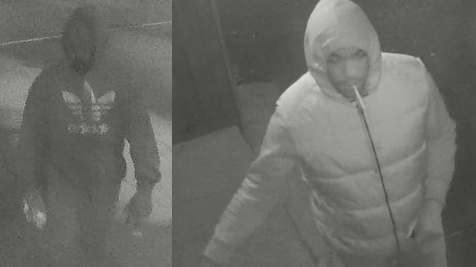 Montreal police are looking for two men, suspected of arson.