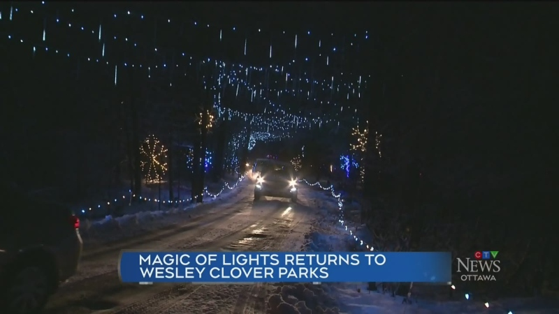The annual Magic of Lights drive-through experienc