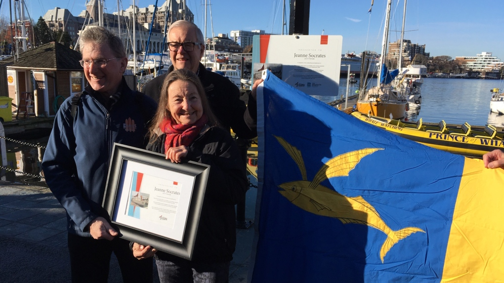 Inner Harbour dock named after record-holding Victoria sailor