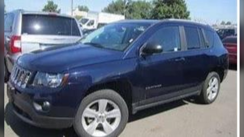 A stock photo of a blue 2016 Jeep Compass, the same type of vehicle 34-year-old Meghan Mills is believed to be driving. (Source: Winnipeg Police Service)