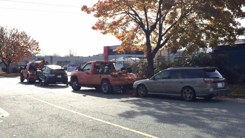 Coquitlam RCMP impounded two Subarus on Oct. 30 for speeding on the Mary Hill Bypass. (RCMP)