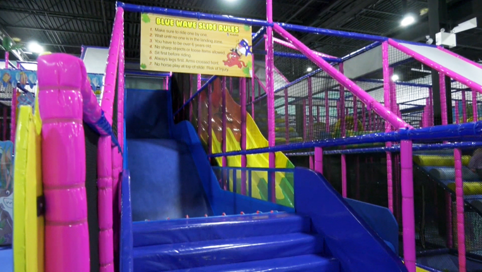 A Calgary woman is warning others about the hazards of an indoor slide that she says injured her