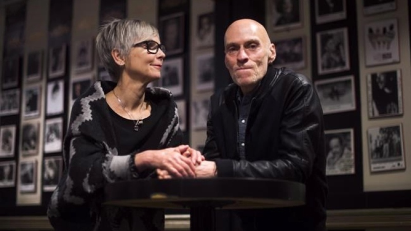 Jill Daum and her husband John Mann, lead singer of Spirit of the West, pose for a photograph in Toronto on Friday, April 29, 2016. Mann, who was diagnosed with Alzheimer's disease at the age of 52, died Wednesday. THE CANADIAN PRESS/Nathan Denette