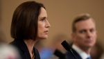 Former White House national security aide Fiona Hill, and David Holmes, a U.S. diplomat in Ukraine, right, testify before the House Intelligence Committee on Capitol Hill in Washington, Thursday, Nov. 21, 2019. (AP Photo/Manuel Balce Ceneta)