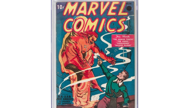 From 10 cents to US$1.3 million, first Marvel comic sets auction record