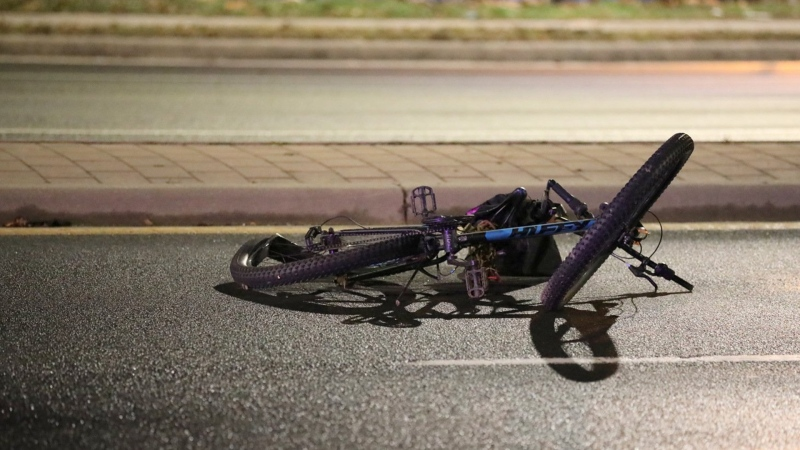 Emergency crews respond to a collision in Oshawa on Nov. 22, 2019 that left a female cyclist dead. (CTV News Toronto)